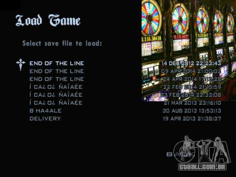 Menu Gambling para GTA San Andreas terceira tela