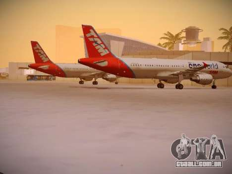 Airbus A320-214 TAM Oneworld para GTA San Andreas vista direita
