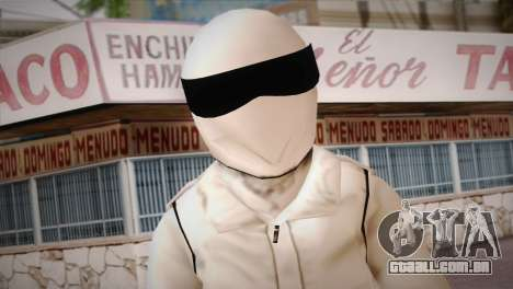 The Stig from Top Gear para GTA San Andreas terceira tela