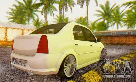 Dacia Logan ZYCU para GTA San Andreas esquerda vista
