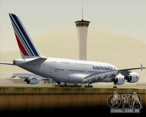 Airbus A380-861 Air France para GTA San Andreas vista traseira