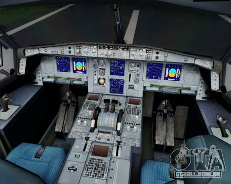 Airbus A340-313 SriLankan Airlines para GTA San Andreas vista superior
