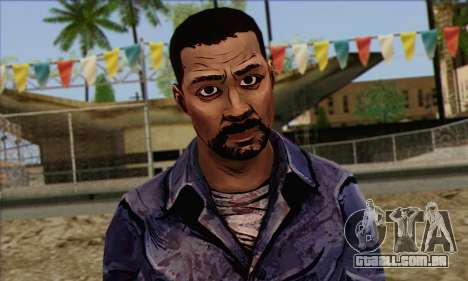 Lee from Walking Dead para GTA San Andreas terceira tela