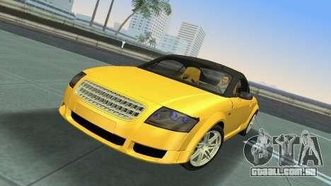 Audi TT Coupe BiMotor Black Revel para GTA Vice City deixou vista