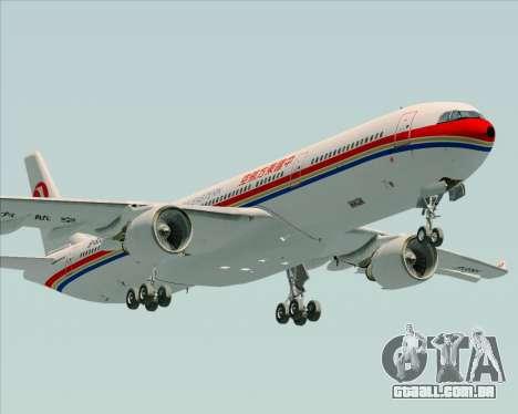 Airbus A330-300 China Eastern Airlines para GTA San Andreas vista interior