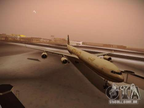 Airbus A340-600 Etihad Airways para GTA San Andreas esquerda vista