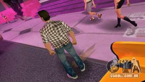 Kockas polo - barna T-Shirt para GTA Vice City terceira tela