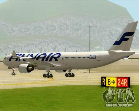 Airbus A330-300 Finnair (Current Livery) para GTA San Andreas vista traseira