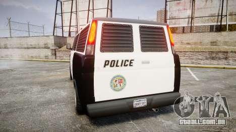 Declasse Burrito Police para GTA 4 traseira esquerda vista