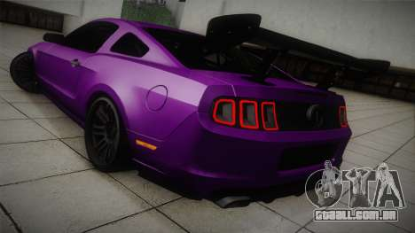Ford Mustang Boss 302 2013 Road Version para GTA San Andreas traseira esquerda vista