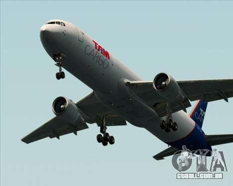 Boeing 767-300ER F TAM Cargo para GTA San Andreas traseira esquerda vista