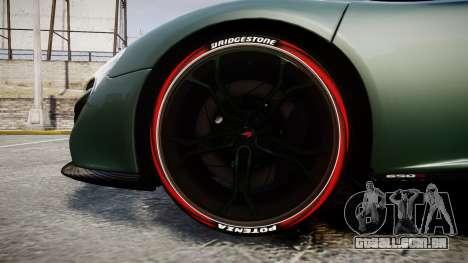 McLaren 650S Spider 2014 [EPM] Bridgestone v2 para GTA 4 vista de volta