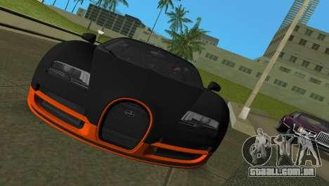 Bugatti Veyron Super Sport para GTA Vice City deixou vista