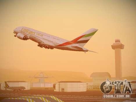 Airbus A380-800 Emirates para as rodas de GTA San Andreas
