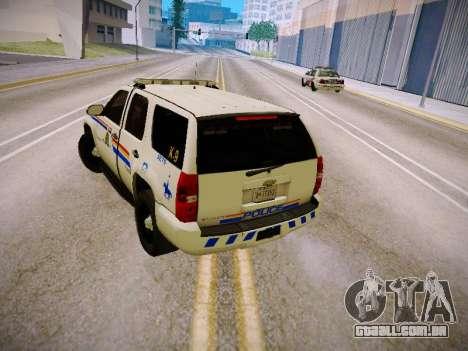 Chevrolet Tahoe 2007 RCMP para GTA San Andreas vista direita