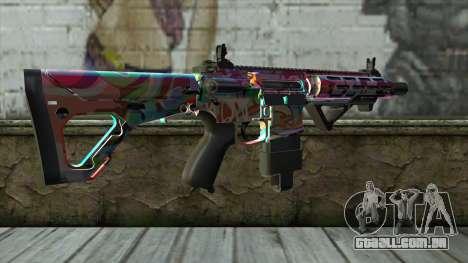 Graffiti Assault rifle v2 para GTA San Andreas segunda tela