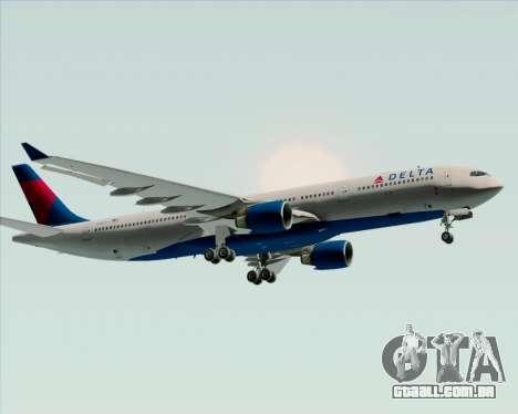 Airbus A330-300 Delta Airlines para GTA San Andreas vista traseira