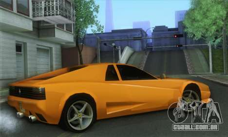 Cheetah Testarossa para GTA San Andreas esquerda vista