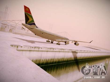 Airbus A340-300 South African Airways para GTA San Andreas traseira esquerda vista