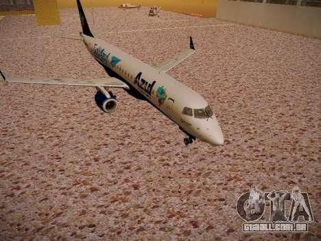 Embraer E190 Azul Tudo Azul para GTA San Andreas esquerda vista