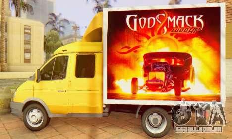 33023 Gazela Godsmack - tem 1000hp (2014) para GTA San Andreas vista direita