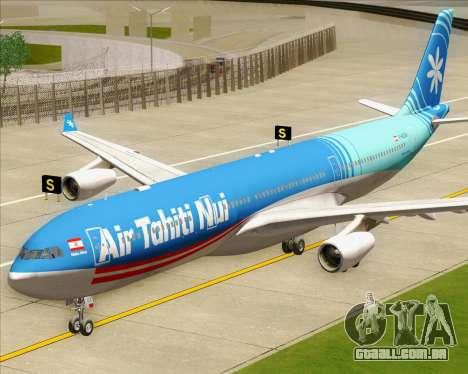 Airbus A340-313 Air Tahiti Nui para GTA San Andreas vista traseira