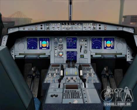 Airbus A330-300 Singapore Airlines para GTA San Andreas interior