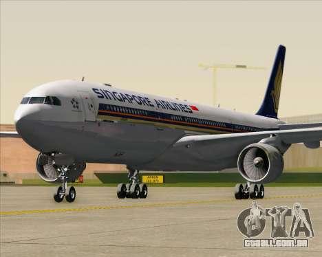 Airbus A330-300 Singapore Airlines para GTA San Andreas vista inferior