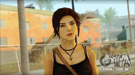 Tomb Raider Skin 4 2013 para GTA San Andreas terceira tela
