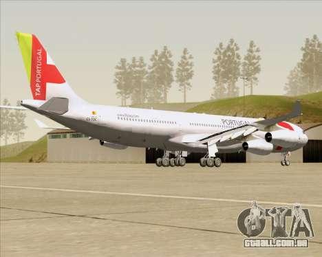 Airbus A340-312 TAP Portugal para GTA San Andreas vista direita