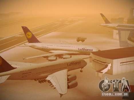 Airbus A380-800 Lufthansa para GTA San Andreas vista inferior