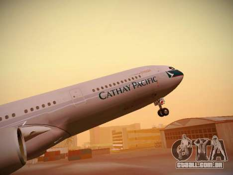 Airbus A340-300 Cathay Pacific para as rodas de GTA San Andreas