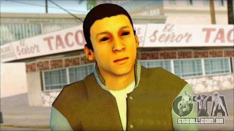 Los Aztecas Gang Skin v2 para GTA San Andreas terceira tela