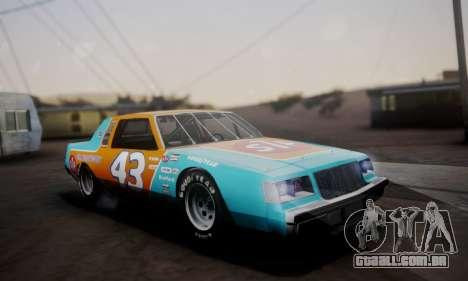 Buick Regal 1983 para vista lateral GTA San Andreas