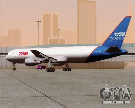 Boeing 767-300ER F TAM Cargo para GTA San Andreas vista interior