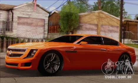 Alpha - DLC Business GTA V para GTA San Andreas vista direita