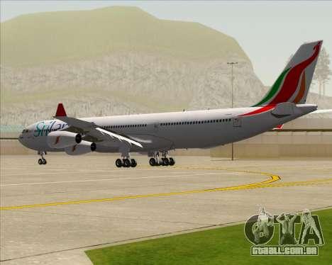 Airbus A340-313 SriLankan Airlines para GTA San Andreas vista direita