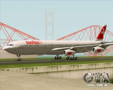 Airbus A340-313 Swiss International Airlines para GTA San Andreas vista interior