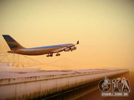 Airbus A340-300 Aerolineas Argentinas para GTA San Andreas traseira esquerda vista