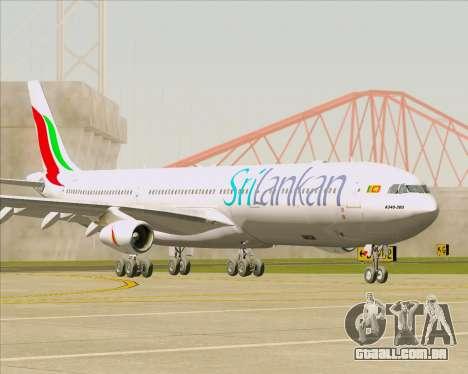Airbus A340-313 SriLankan Airlines para GTA San Andreas traseira esquerda vista
