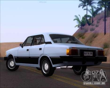 Chevrolet Opala Diplomata 1987 para GTA San Andreas traseira esquerda vista