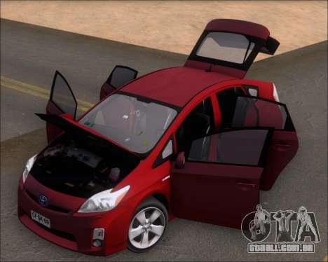 Toyota Prius para GTA San Andreas vista traseira
