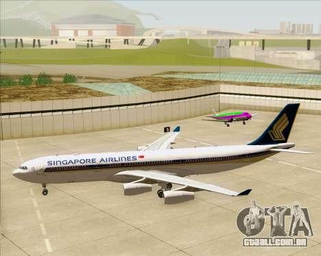 Airbus A340-313 Singapore Airlines para GTA San Andreas vista inferior