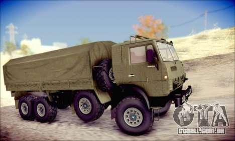 A KamAZ-6350 (APT) para GTA San Andreas traseira esquerda vista