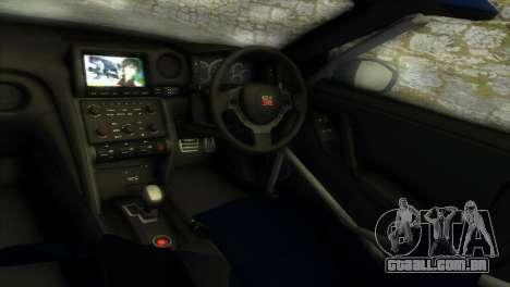 Nissan GT-R SpecV Black Revel para GTA Vice City vista interior