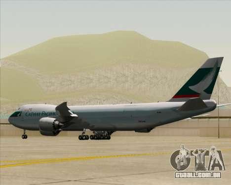 Boeing 747-8 Cargo Cathay Pacific Cargo para GTA San Andreas vista direita