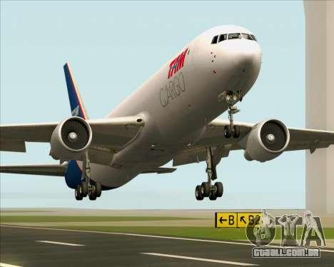 Boeing 767-300ER F TAM Cargo para GTA San Andreas vista inferior