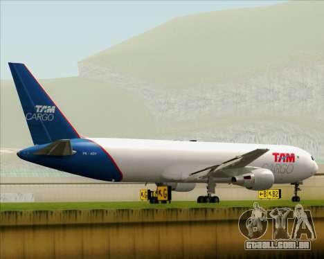 Boeing 767-300ER F TAM Cargo para GTA San Andreas vista direita