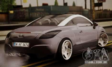 Peugeot RCZ para GTA San Andreas esquerda vista