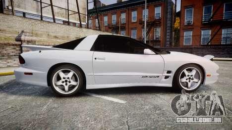 Pontiac Firebird Trans Am 2002 para GTA 4 esquerda vista